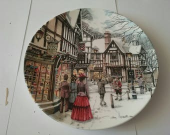 Christmas decorations plate