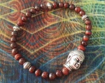 Red Tigard eye young girls Buddha bracelet