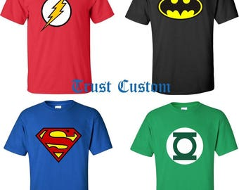 DC Comics Batman Flash Green Lantern Superman T-Shirt ALL SIZES S - 4XL