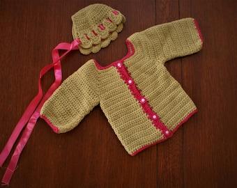 Baby Alpaca Cutest Sweater & hat NB
