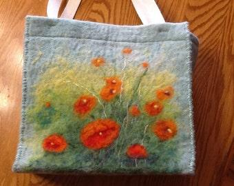 Needle felt bag