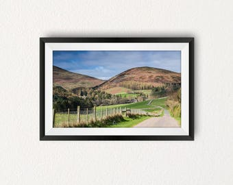 "24""x16"" Limited edition Landscape Art print of the Cheviot Hills, Northhumbria 