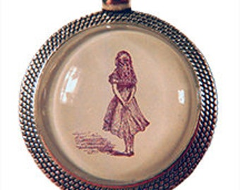 Vintage-styled Alice pendant