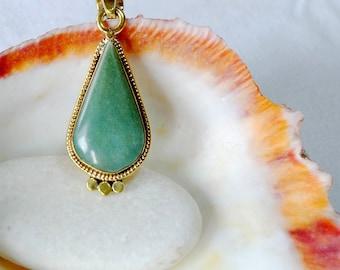 Jade of Guatemala - jade Teardrop Pendant