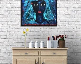 Acrylic on streched canvas, Azul