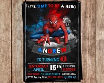 Spiderman Invitation - Spiderman Invite - Spiderman Birthday - Spiderman Party - Spiderman Cards - Spiderman Tags - Spiderman Birthday Party