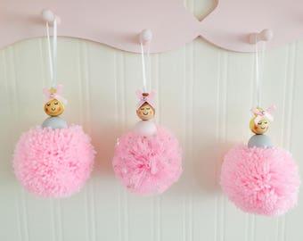 Handmade Pom Pom dolls