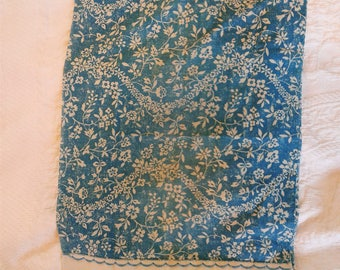 Vintage Pillow Case Floral Filigree Faded, Soft