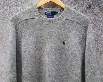 Vintage Polo Ralph Lauren Small Pony Wool Sweatshirt