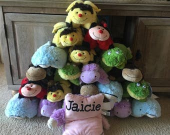 Pillow pets with HTV names
