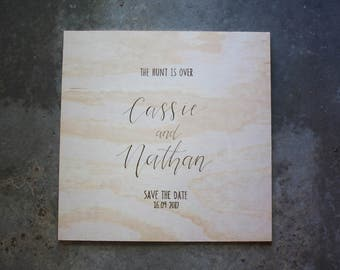 Wedding Engagement Save The Date Sign. Wooden Engraved Welcome Signage. Cute Wedding Signs. Engagement Sign. Celebration Party Sign.