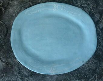 Ceramic Squid Serving Dish Turquoise