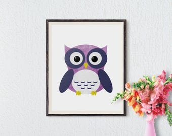 Woodland Nursery Decor, Woodland Nursery Wall Art, Woodland printables, Owl Nursery Decor, Animal Prints for kids, Owl Nursery Print