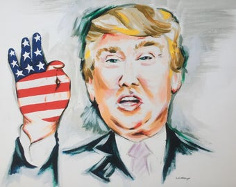 Donald Trump painting (print)