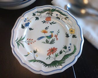 Gien Oiseaux De Paradis Bread and Butter Plate