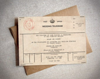 Wedding Invitation Telegram And Marriage Evening Reception Card Ready To Print