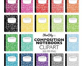 Composition Notebook clipart, Notebook Clip Art, School Graphics, Composition clipart, College Clipart, Commercial Use, instant download
