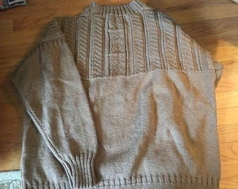 Cable sweater mens 3x