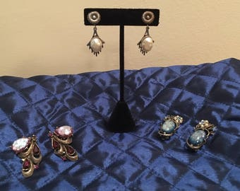 Eclectic Collection of Interesting Antique Earrings