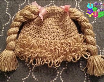 Cabbage Patch Hat / Beanie Wig