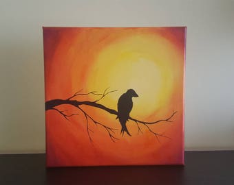 Canvas hand painting