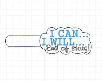 I can, I will ... Keychain, digital file.