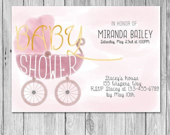 Baby Shower Invitation (Digital)