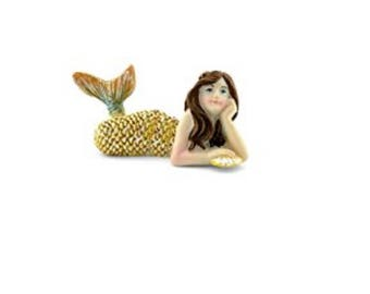 Fairy Garden Miniature Dollhouse Mermaid Lying Down
