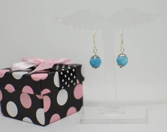 Aquamarine Pearl Earrings