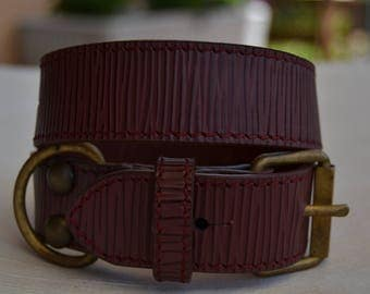 Luxury leather dog collar made in Italy