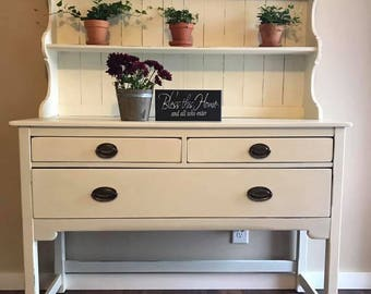 Sold-Example- Upcycled Farm Style Hutch