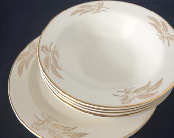 Lifetime China Co. by Homer Laughlin - Mid-Century - Salad Plate - 22K Gold
