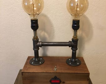 Industrial style steampunk Lamp