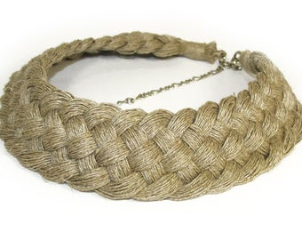 Linen , Linen cord, Natural necklaces,linen thread, Natural style, Eco style,Hippie necklace,flax necklaces,Organic Necklace, Linen Necklace