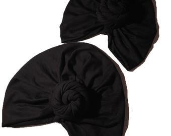 Mommy and me  turban hats set.