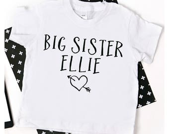Big Sister Shirt; custom big sister shirt; new baby announcement; pregnancy announcement; family shirts; big sister tshirt; big sister tee
