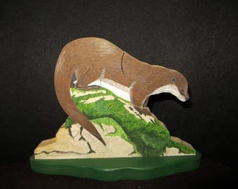 """Otter"" hand painted wooden puzzle"