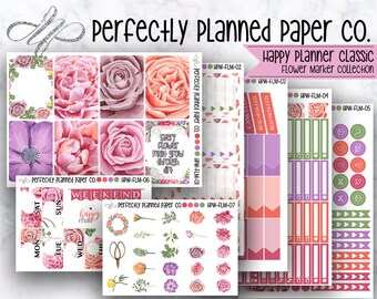 Flower Marker Collection // Full Weekly Kit // Happy Planner Classic