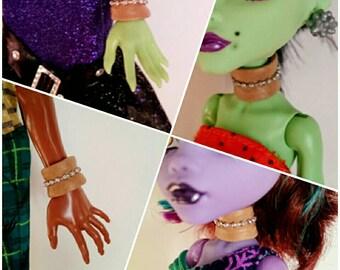 Monster high flexible light punk collar necklace bracelet