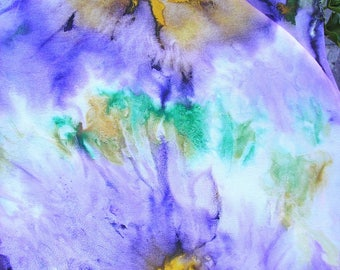 pure hand-painted silk scarves