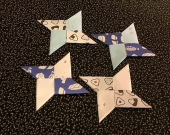 Japanese origami-Set of  4 Throwing Stars