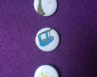"1"" buttons - set of 3"