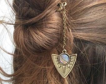 Abalone Sea Shell Hair Pin, Hair Jewellery