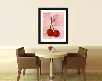 Cherries, Cherry, Bing Cherries, Kitchen Art, Restaurant Art, Food Picture, Wall Art