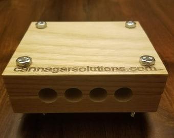 4 Slot Cigar Mold / Press - Cannagar Mold - In Stock