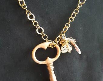 Handmade key necklace
