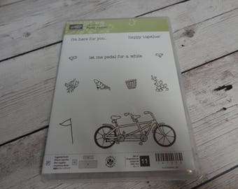 Stampin Up Pedal Pusher Stamp set Sale-a-bration Retired