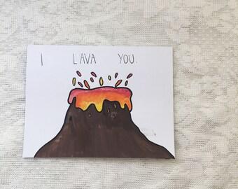 I Lava You, Watercolor