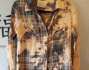 Destroyed plaid shirt