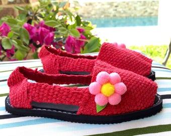 SALE, SALE !! Alpargatas - Espadrilles - Espartenas - Girls' Shoes - Summer Shoes - Beach Footware - Artisan Shoes - Handmade Shoes - Canvas